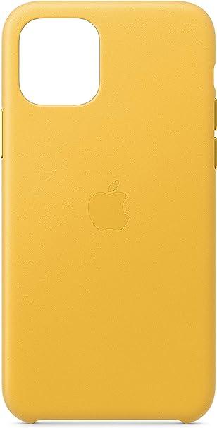Image ofApple Funda Leather Case (para el iPhone 11 Pro) - Amarillo Cítrico