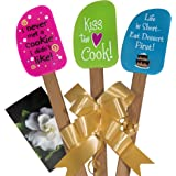 3 Piece Fun Silicone Spatula Gift Set with decorative bow and gift card. Easy clean, durable, high temperature resistant, stain resistant. Great for gifts, baking, cooking, sauteing.