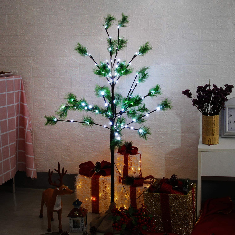 160LED Blanc Chaud//Blanc Froid LED 220LED 2.2m CCLIFE Arbre Lumineux 120LED 1.8m 80LEDS 8 Effets Lumineux Impressionnants arbre artificiel lumineux 1.5m
