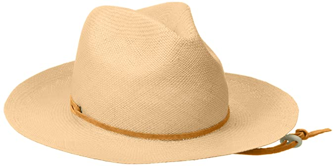 f9a2c8a22bc07 Pantropic Men s Genuine Panama Straw Fedora Explorer Hat with Pinch Front  at Amazon Men s Clothing store