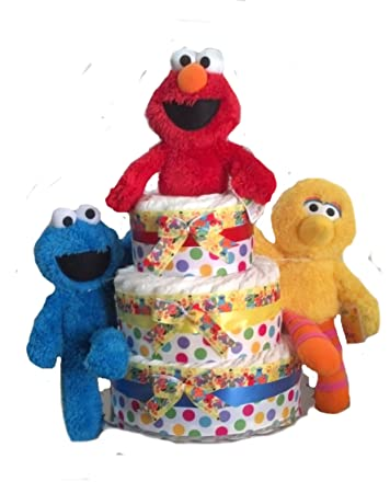 Amazon Sesame Street Elmo And Friends Baby Shower Diaper Cake
