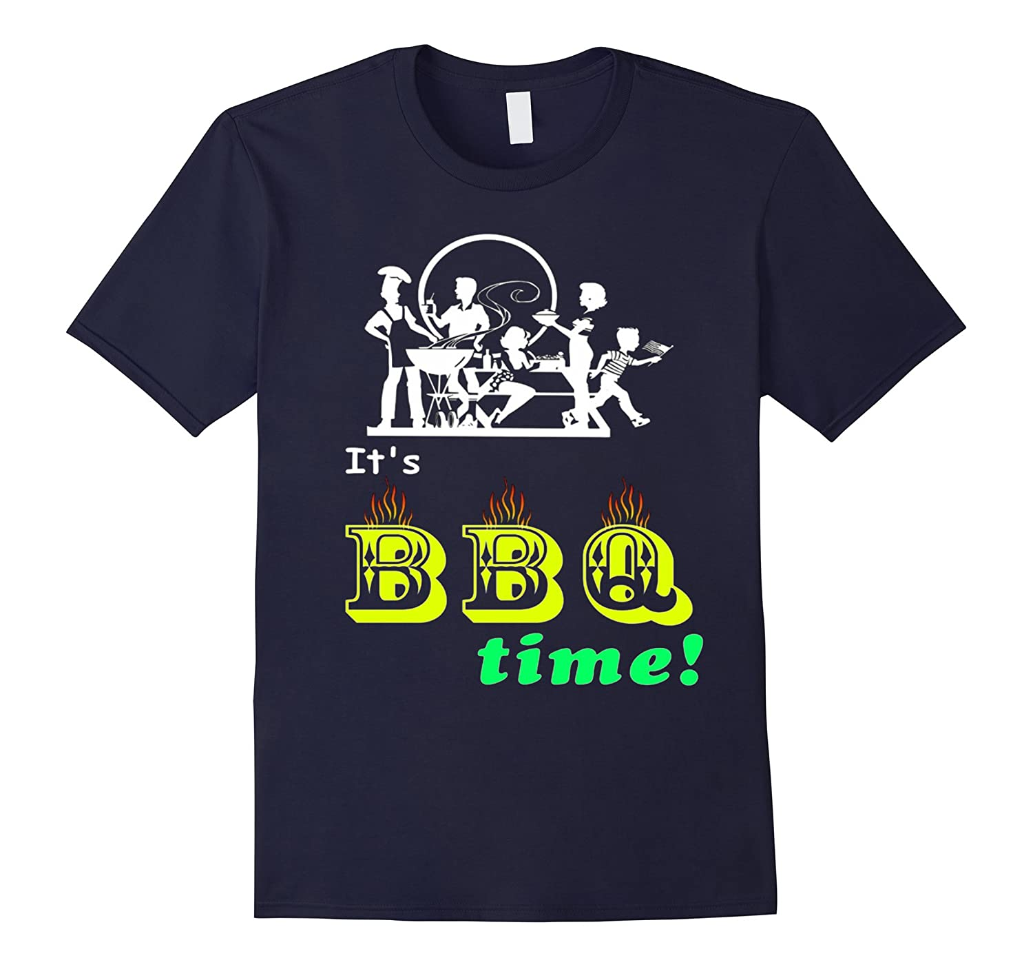 BBQ Barbecue Party Time Funny T Shirt-PL