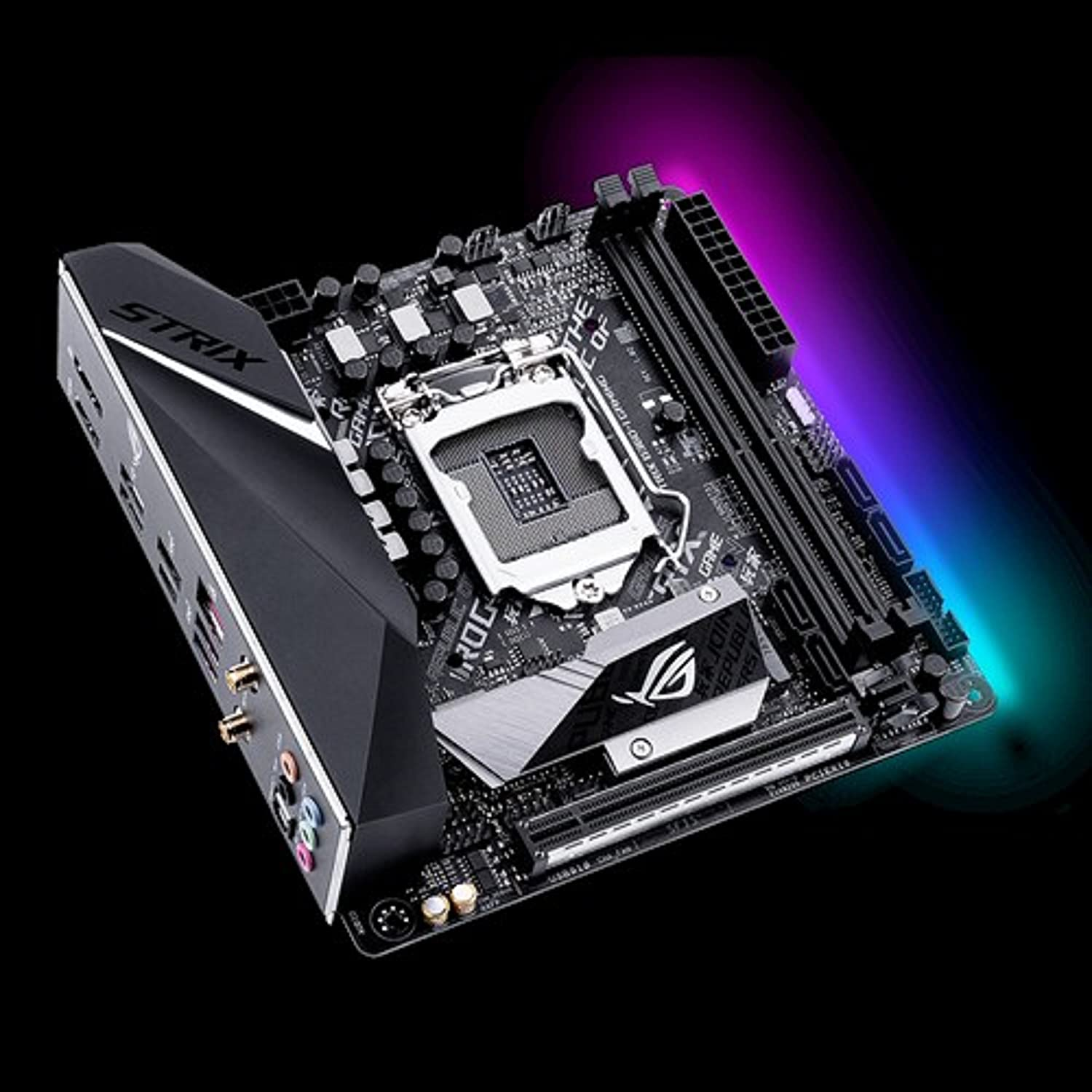 ASUS ROG LGA1151 (300 Series) DDR4 DP HDMI M.2 Mini-ITX Motherboard (Strix B360-I Gaming)