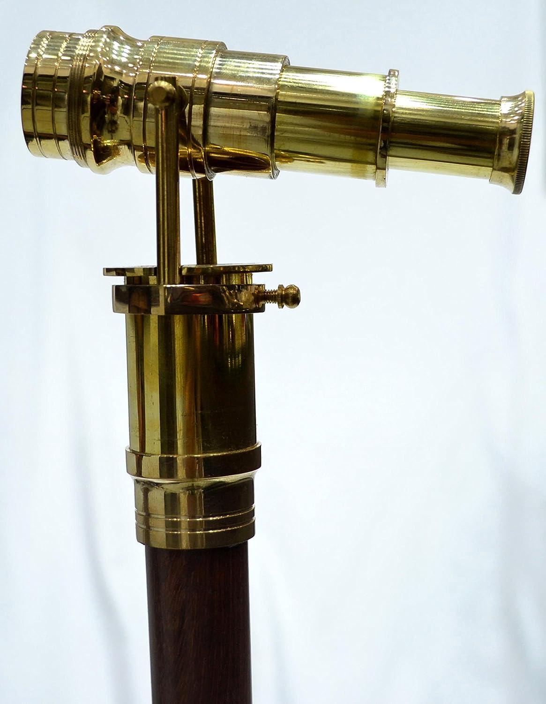 Antique Walking Sticks Wood Cane Telescope Walking Stick Spy Glass Miniature