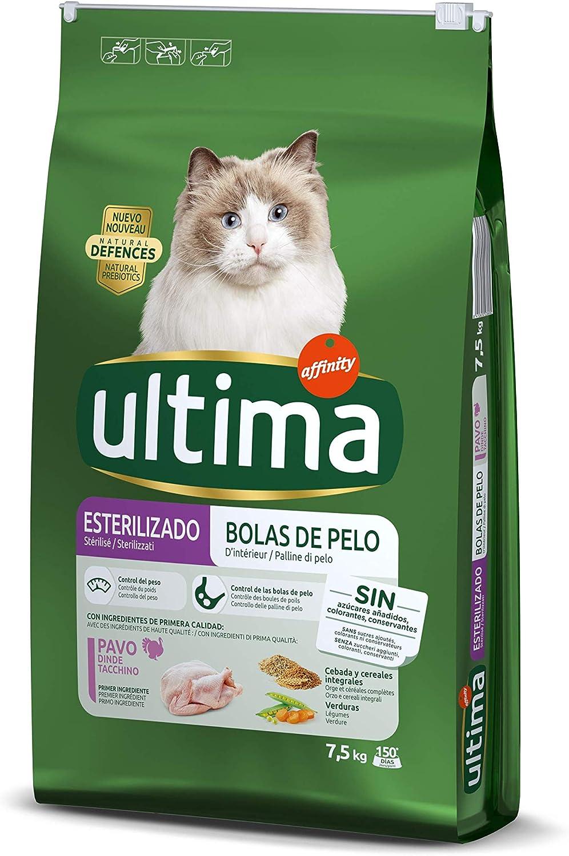 Ultima Pienso Para Gatos Esterilizados Para Prevenir Bolas De Pelo Sabor Pavo 7 5 Kg Amazon Es Productos Para Mascotas