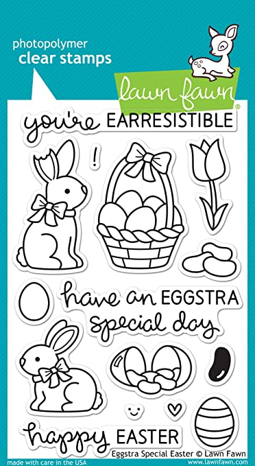 Amazon.com: Lawn Fawn Eggstra Special Easter Stamp and Die Bundle ...