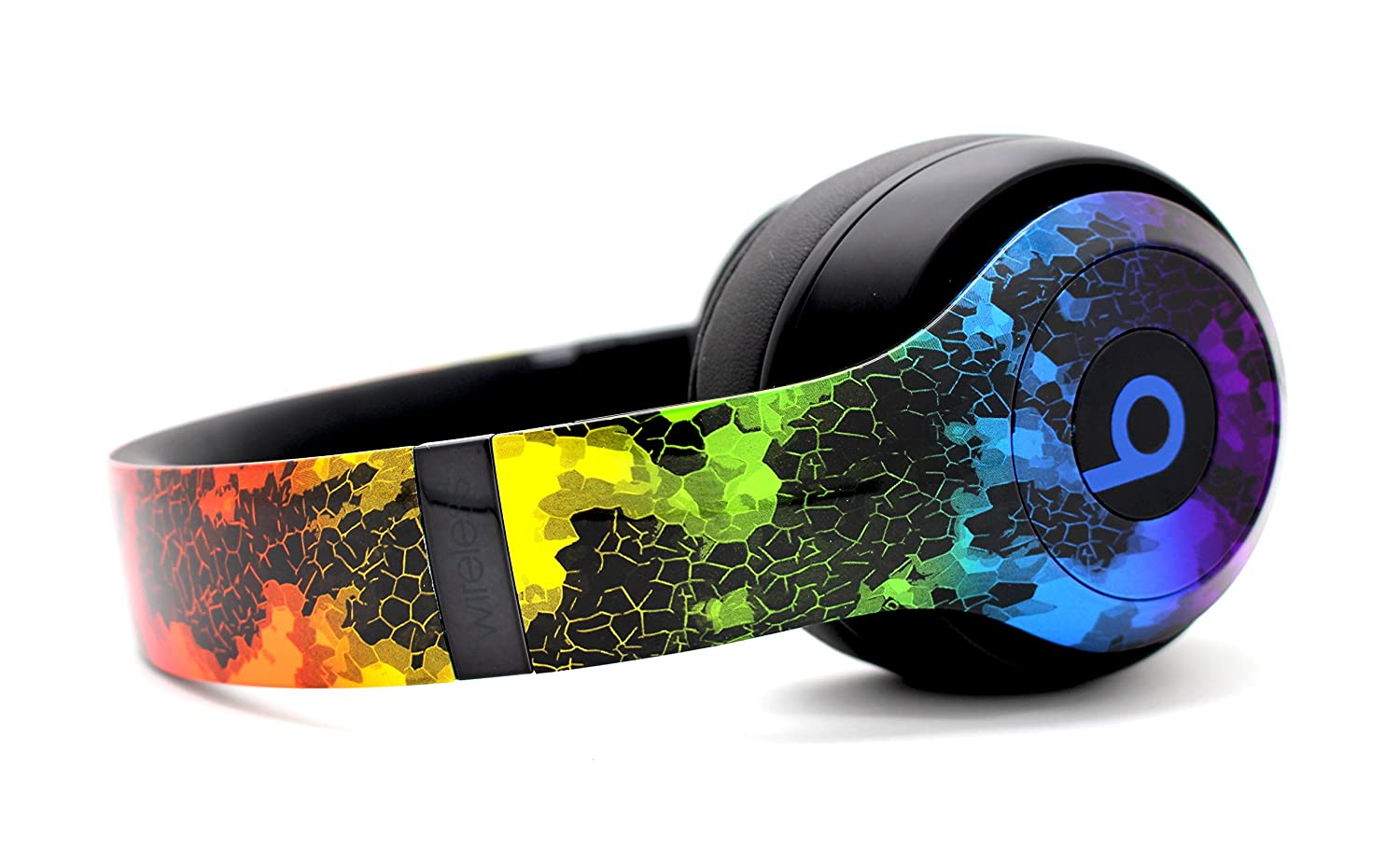 Beats by Dre Studio 3 Wireless Headphones – Custom Painted Dr. Dre Bluetooth – Rainbow Hex