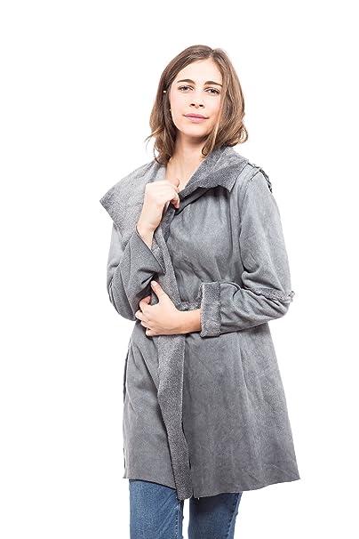 Abbino 6826 Abrigo para Mujer 4 Colores - Verano Otoño Invierno De Marca  Elegante Casual Fiesta Chica Rebajas Manga Larga Vintage Largo Estampado -  Gris ... 8f0fc38285c5