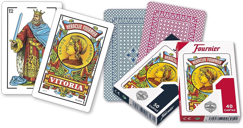 Fournier F20991 - Baraja española Nº 1, 50 cartas, surtido: colores aleatorios: Amazon.es: Juguetes y juegos