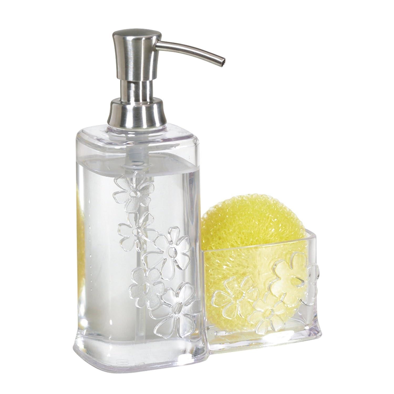 Amazon.com: InterDesign Blumz Soap Dispenser Pump and Sponge Caddy ...
