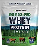 Grass Fed Whey Protein Powder Isolate - Unflavored + Cold Processed + Undenatured - Pure Wisconsin Grass-Fed Protein for Shake, Smoothie, Drink, or Food - Non GMO + No Gluten - 2.5 pounds