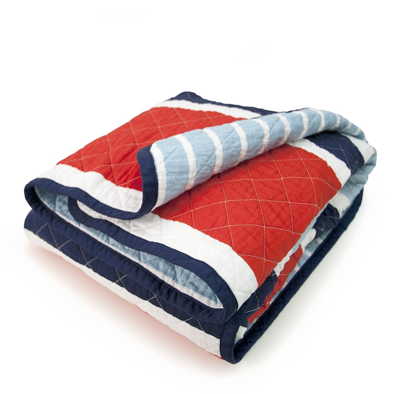 CoCaLo Mix & Match Deck Stripe Coverlet, Connor 7911-020-105-0400