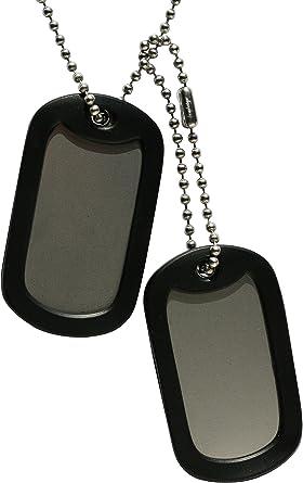 Chapa Militar: Juego de 2 chapas blancas tipo militar.: Amazon.es: Ropa y accesorios
