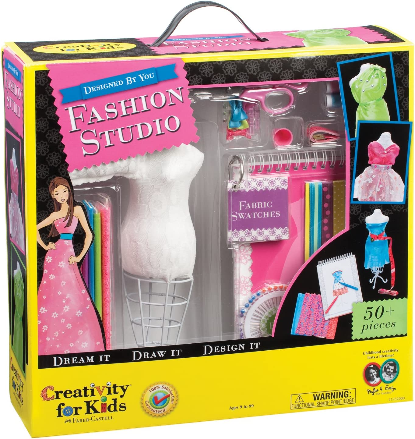 Amazon Com Creativity For Kids Designed By You Fashion Studio Fashion Design Kit For Kids Toys Games