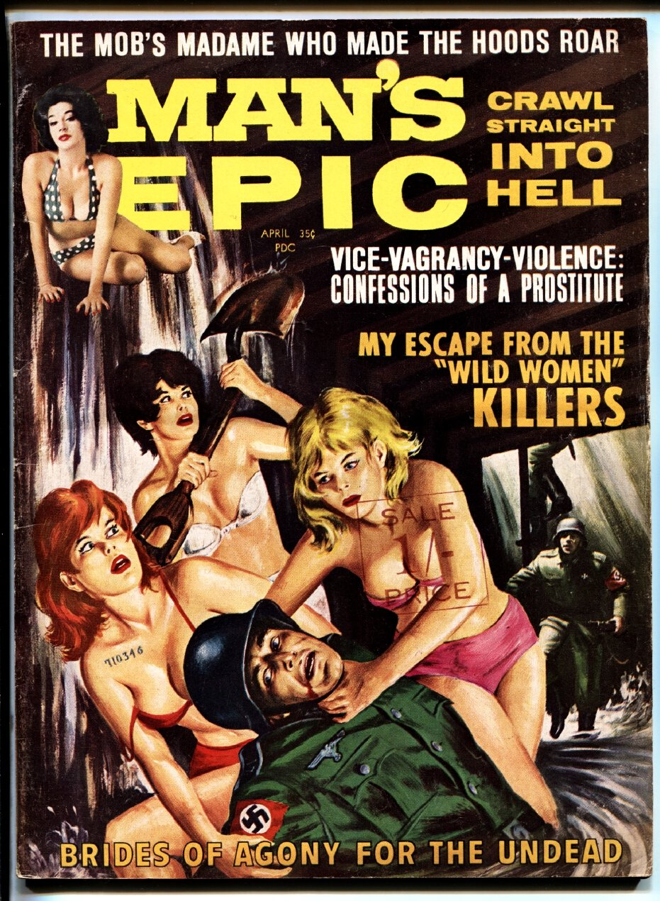 Man's Epic Pulp Magazine April 1964-Naked women beat up NAZI at Amazon's  Entertainment Collectibles Store
