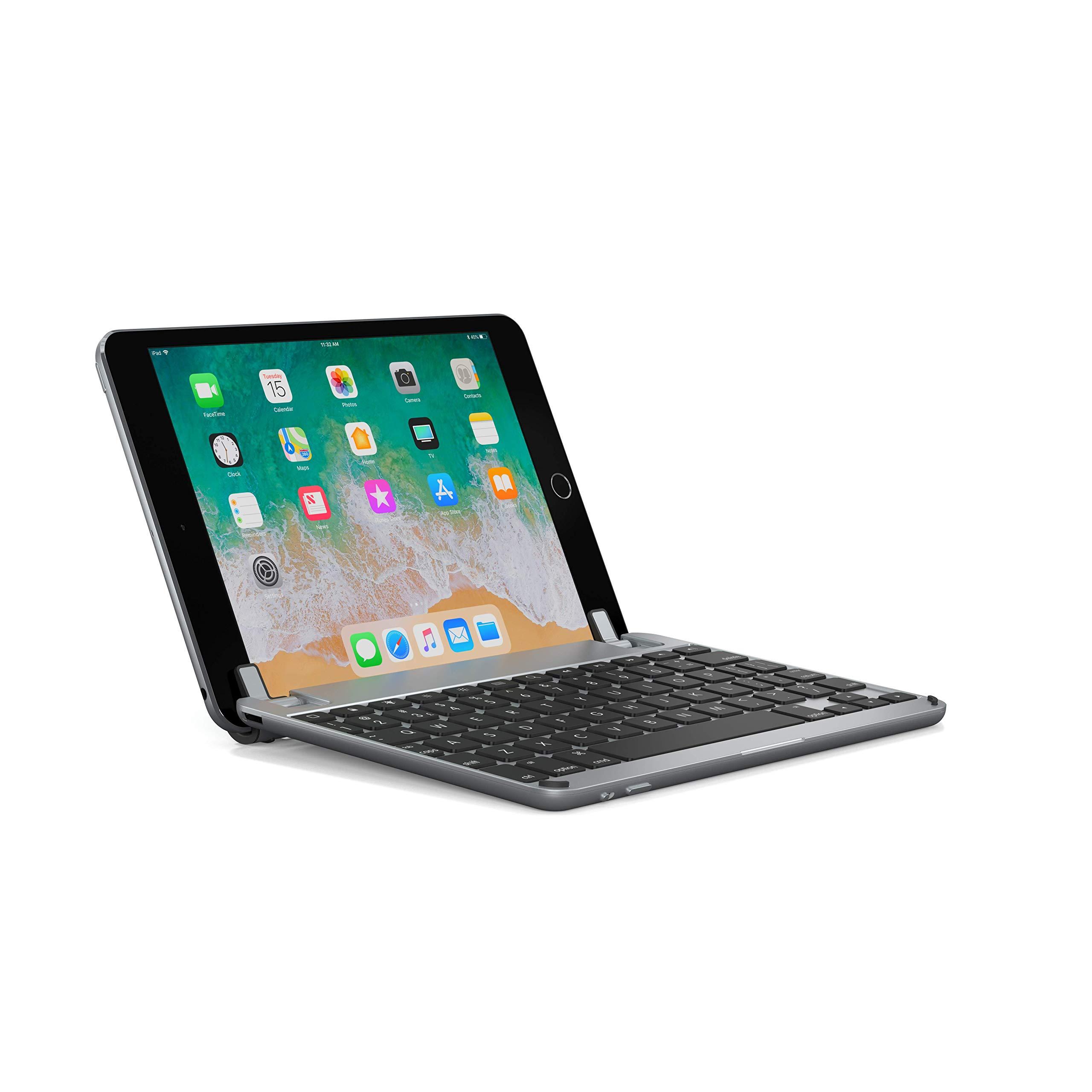 Brydge 7.9 Keyboard for iPad Mini 4 Keyboard. Backlit, Aluminum, Detachable, 180 Degree Viewing. (Space Gray)