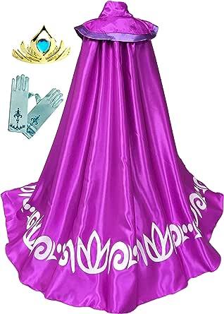 Cokos Box Girls Frozen Elsa Accessories Long Cape Cloak, Gloves, Tiara, Accessories Set