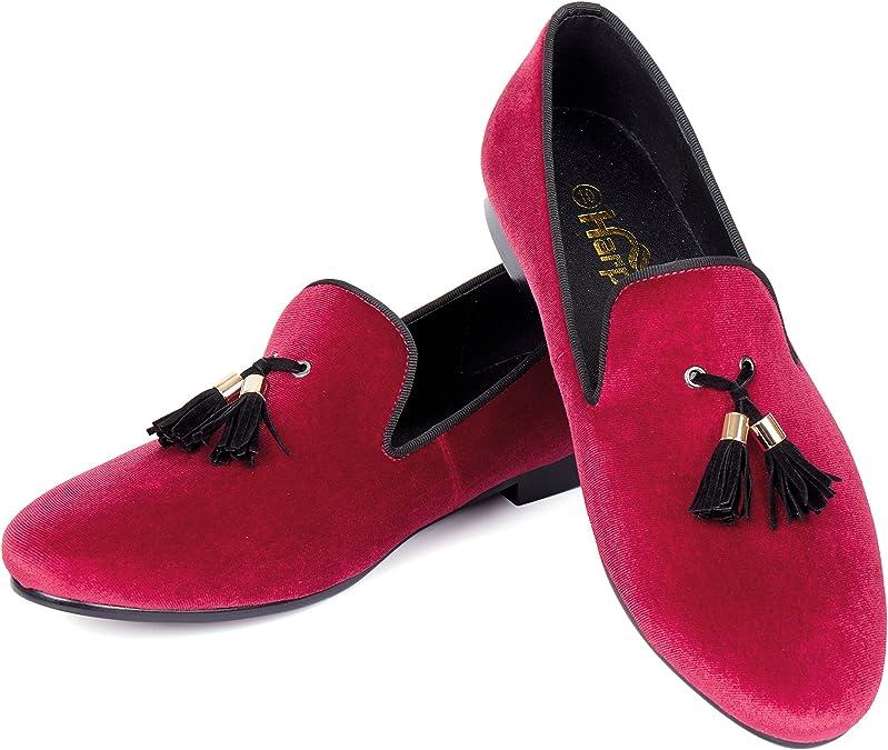 Harpelunde Slip-on Dress Shoes Tassel Solid Men Velvet Loafers
