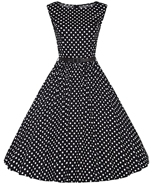 Amazon.com: tecrio 1950 de la mujer estilo clásico sin ...