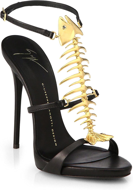 Skeletal Fish Leather Sandals Size 7US