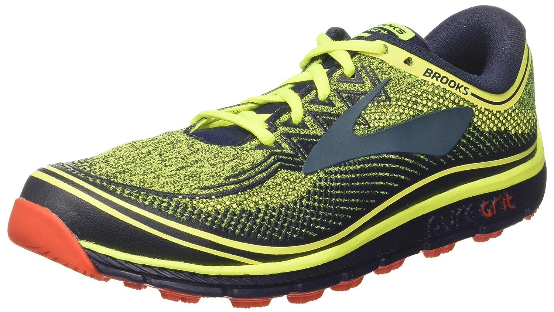 Brooks PureGrit 6, Zapatillas de Running para Hombre 42.5 EU|Multicolor (Nightlife/Navy/Orange 1d772)