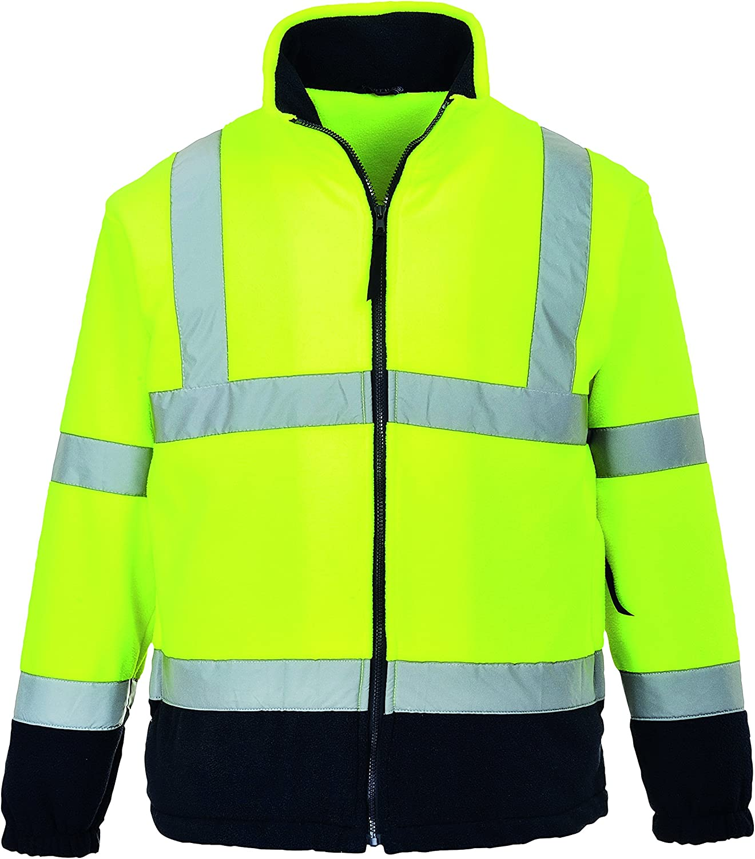Veste polaire haute visibilit/é jaune fluo//marine EN 471 3//7