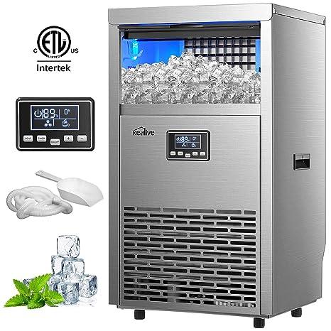 Kealive máquina de hielo comercial 99lbs en 24h con capacidad de ...