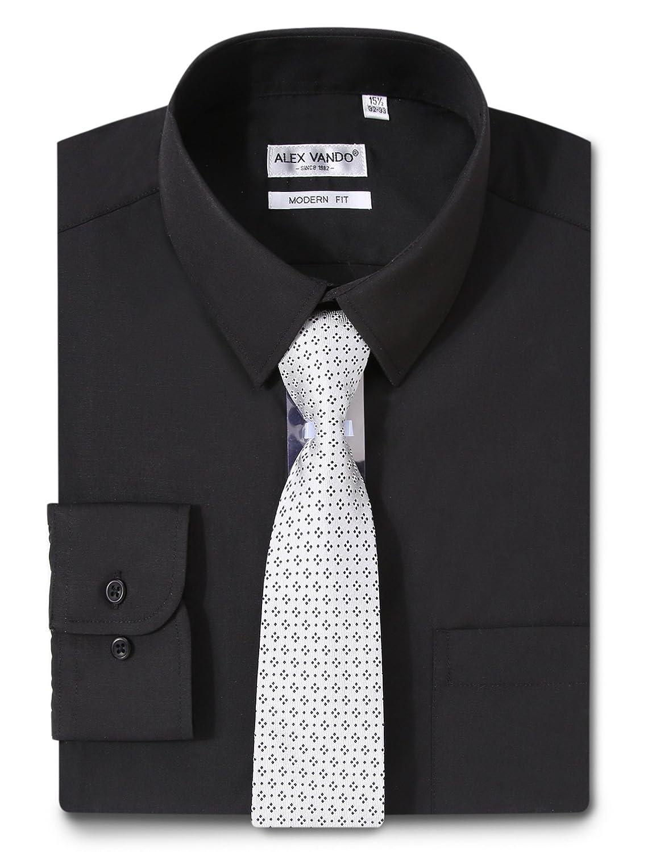 Joey Cv Mens Dress Shirts Regular Fit Long Sleeve Cotton Solid Color