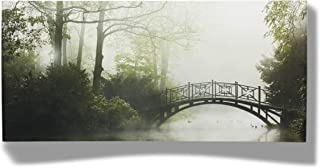 product image for 3D Metal Wall Art - Misty Bridge Panoramic Wall Decor - Handmade in the USA for Use Indoors or Outdoors