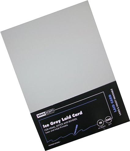 10 l/áminas Paperstate color gris tama/ño A4 Cartulinas de papel verjurado 220 g//m/²