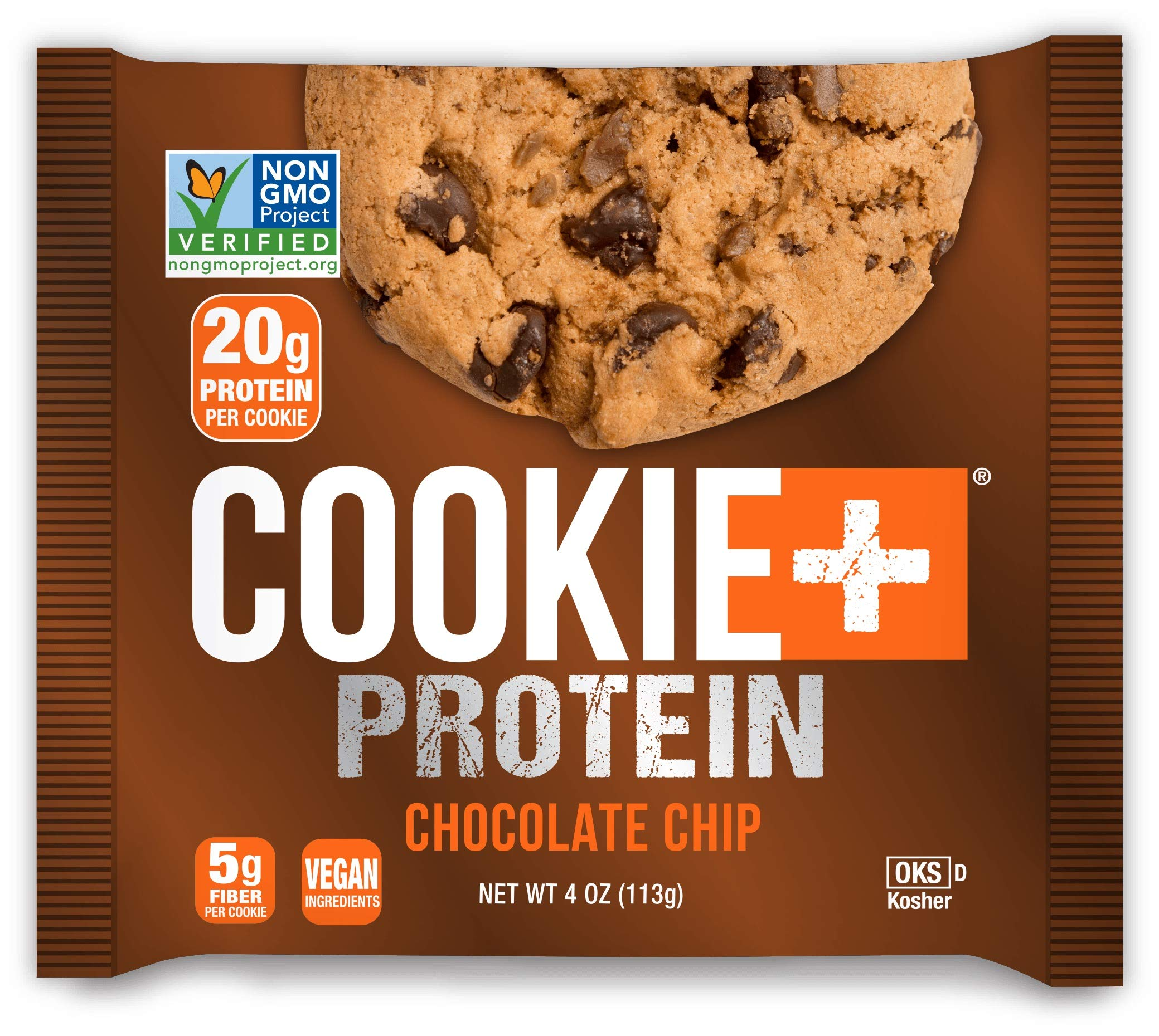 Bake City Cookie Plus Protein | Protein Cookies, 20g Protein, Non GMO, Vegan, Plant Based, Kosher, No Artificial Flavors (VARIETY, 12 Cookies)