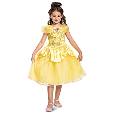 Disney Princess Belle Classic Girls' Costume, Yellow: Toys & Games