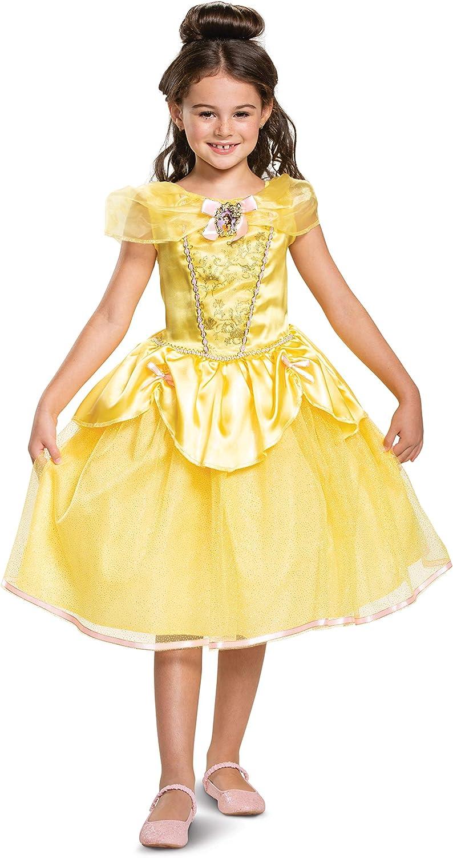 DISNEY PRINCESS BEAUTY /& THE BEAST BELLE SPARKLE CHILD CLASSIC COSTUME Halloween