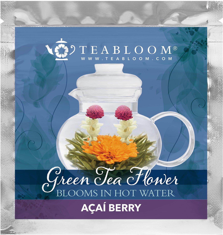 Amazon.com : Teabloom Natural Rose Flowering Tea - 12 Hand Tied ...