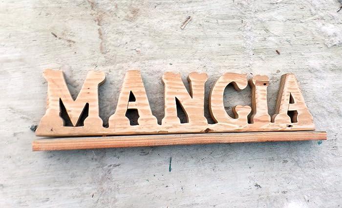 Amazon Com Mangia Sign Italian Kitchen Decor Reclaimed