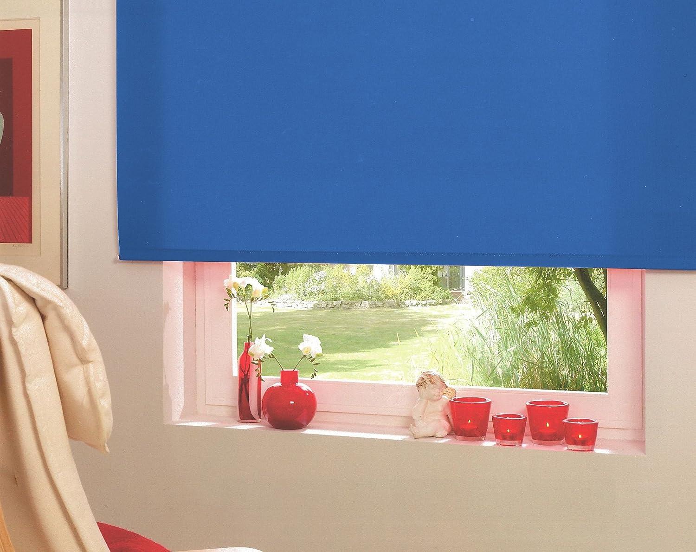 Kettenzugrollo Seitenzugrollo Fensterrollo Fensterrollo Fensterrollo Türrollo Rollo Blau Breite 60 bis 240 cm Länge 160 cm Vorhang Lichtdurchlässig Blickdicht Sonnenschutz Sichtschutz (240 x 160 cm - Kette rechts) 256821