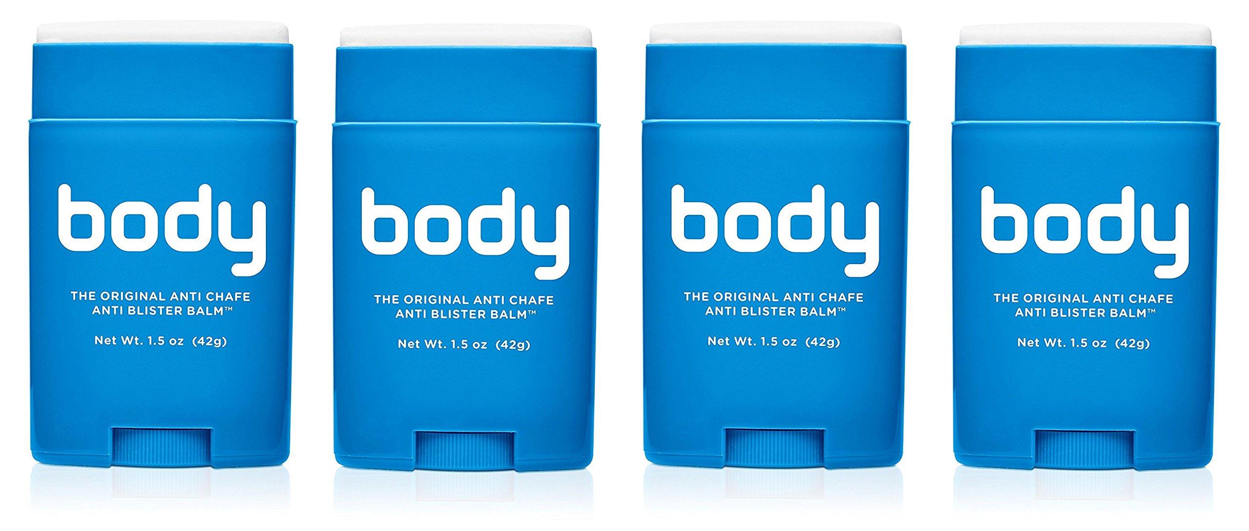 BodyGlide Original Anti-Chafe Balm, 4Pack (1.5 oz)