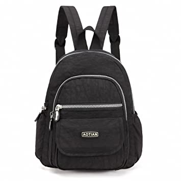 Amazon.com : AOTIAN Mini Nylon Women Backpacks Casual Lightweight ...