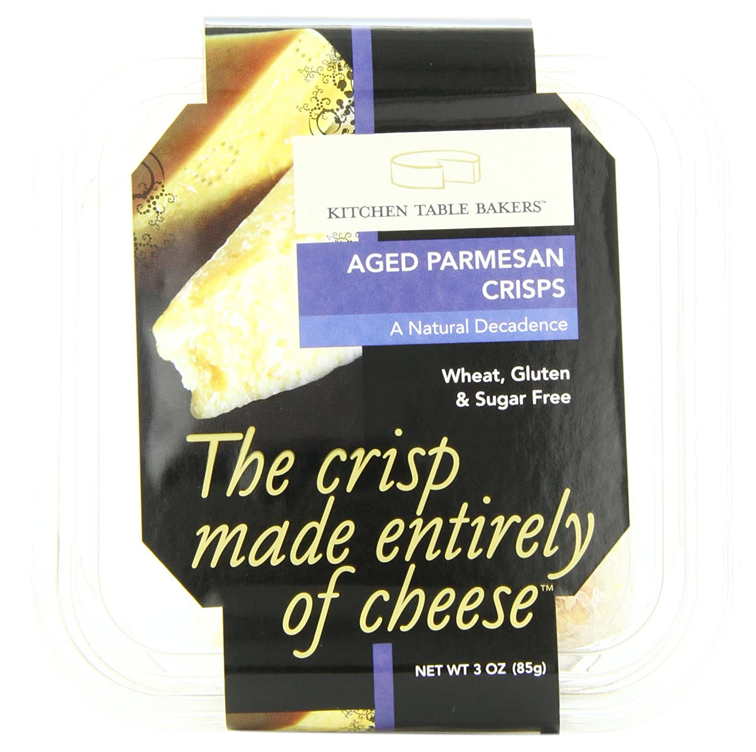 B kitchen table bakers Amazon com Kitchen Table Bakers Aged Parmesan Crisps 3 Ounce Packages Pack of 4