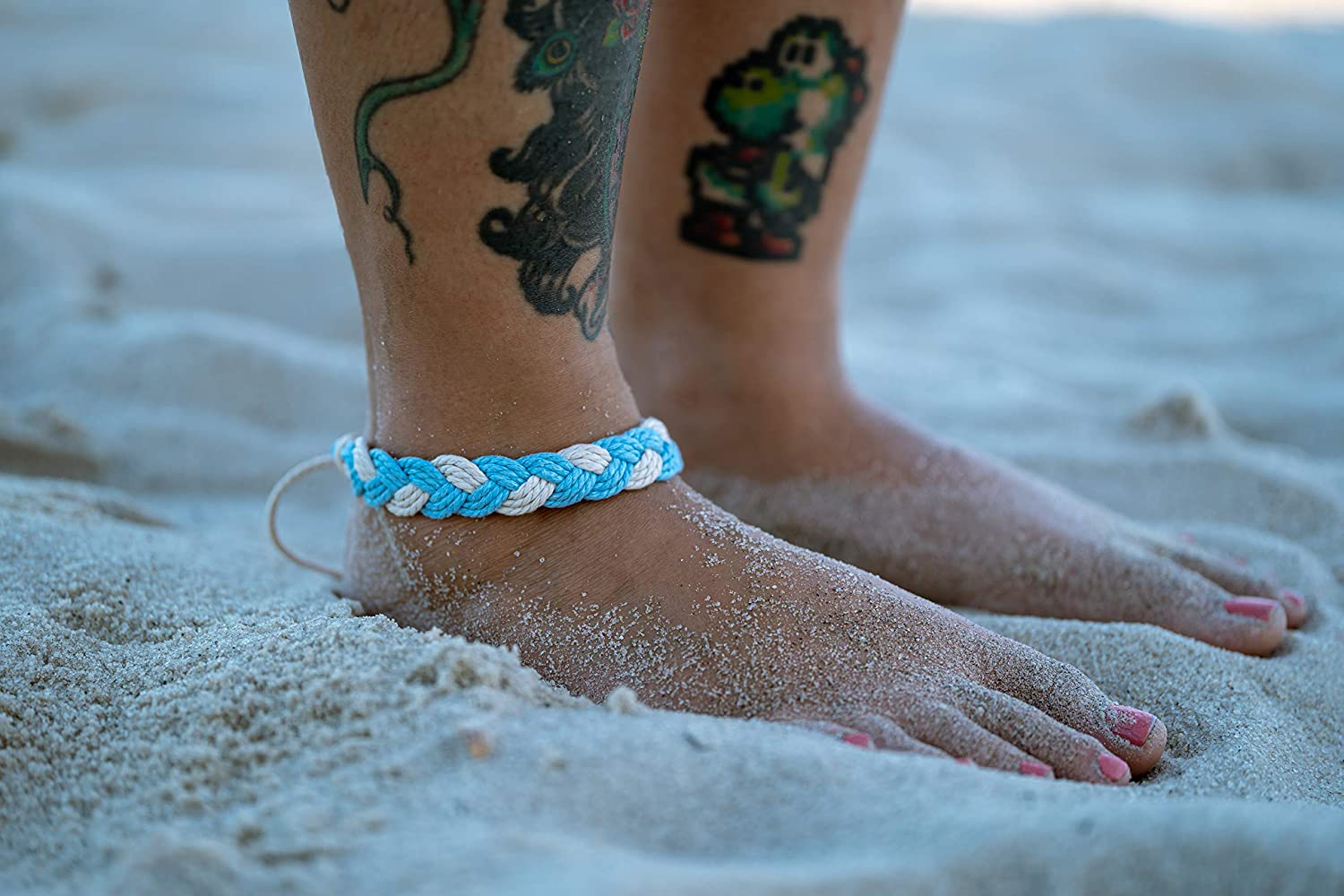 10-2mm real turquoise leather cord adjustable friendship ankle bracelets