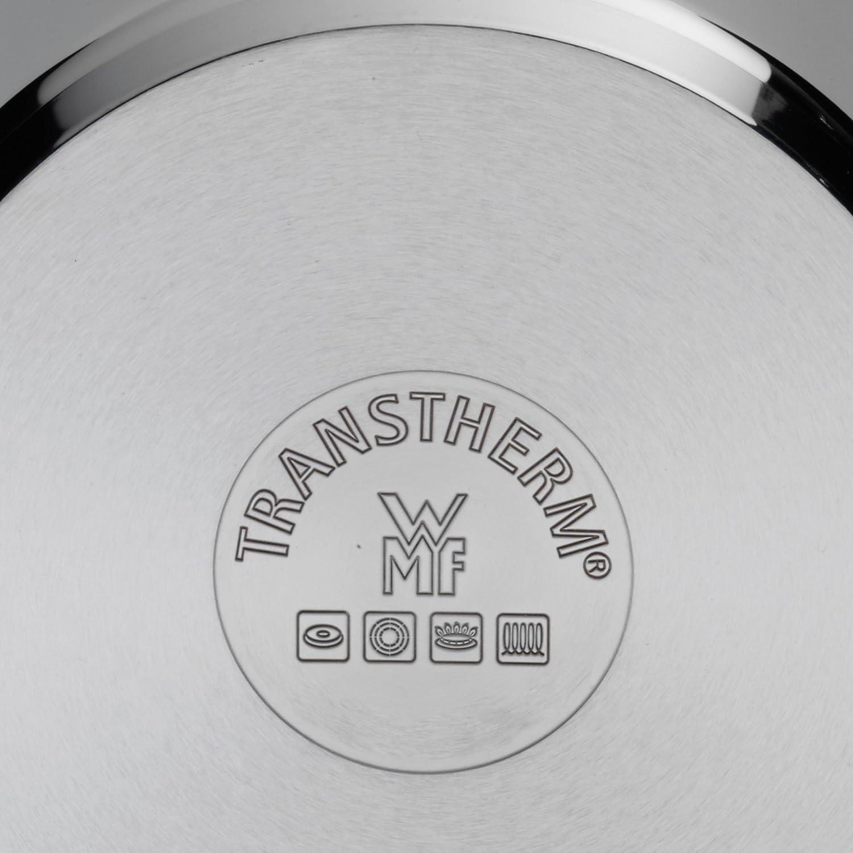 Cromargan Edelstahl poliert unbeschichtet WMF Mattea Kochtopf hoch 16cm Fleischtopf 2,0l Glasdeckel Topf Induktion