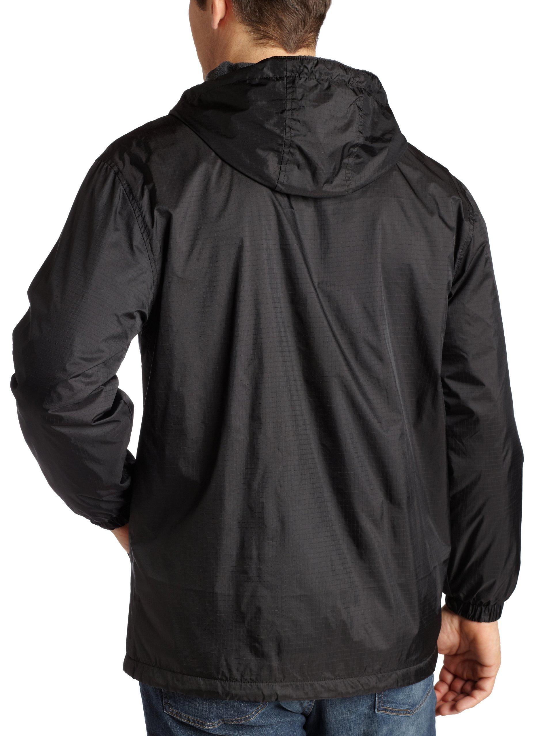 Dickies Men's Fleece Lined Hooded Jacket, Black, Small by Dickies (Image #2)