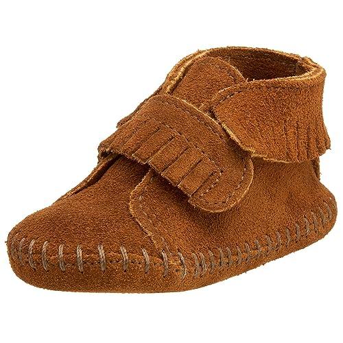 Minnetonka Velcro Front Strap Bootie - Zapatos, unisex, color braun (brown/brn), talla 17/18