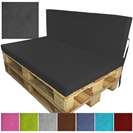 Komplett-Set Outdoor Palettenkissen 2-teilig Set Sitzkissen + Rückenkissen  Paletten-Sofa Indoor / Outdoor schmutzabweisende und wasserabweisende ...