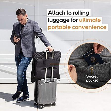 """Garment Suit Bag Travel Organizer Carry-on includes 15/"""" Companion Laptop Computer Case"""