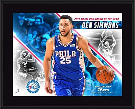Ben Simmons Philadelphia 76ers 10.5 quot  x 13 quot  2018 NBA Rookie of the  Year Sublimated 7d9dcd41c