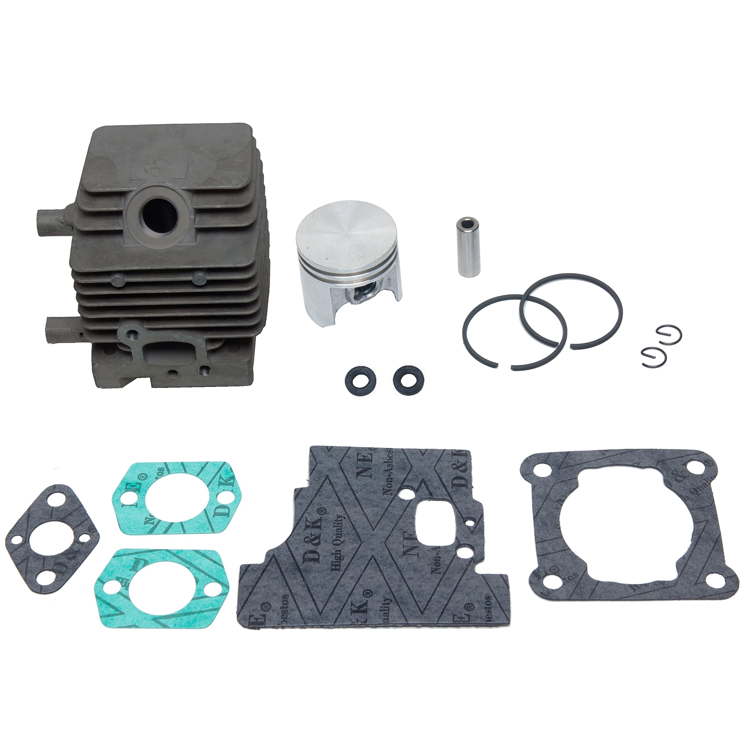 SPERTEK Cylinder & Piston Kit + Gasket Kit for Stihl FS75 FS80 FS85 34mm (W/2 Oil Seals)