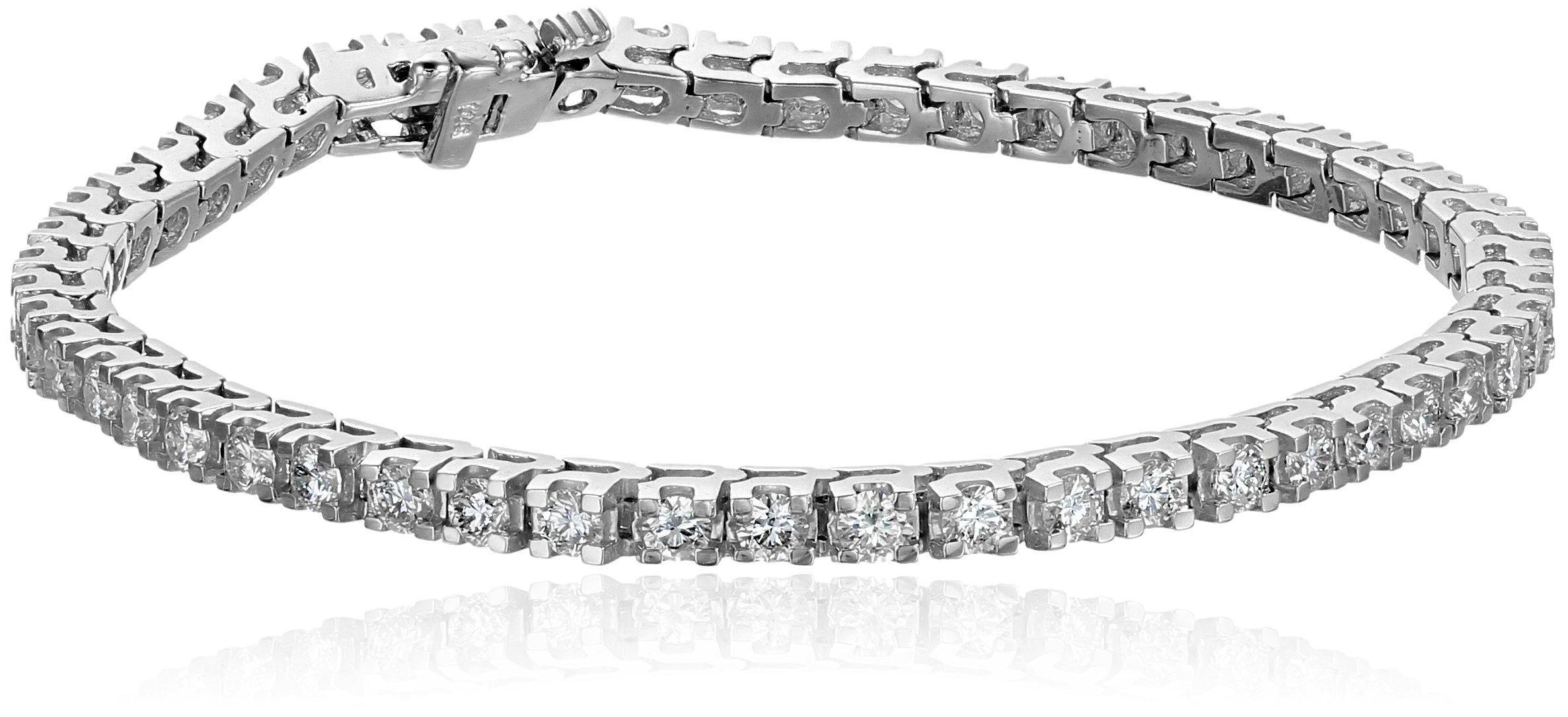 IGI Certified 14k White Gold 4-Prong Diamond Tennis Bracelet (4cttw, H-I Color, I1 Clarity), 7''