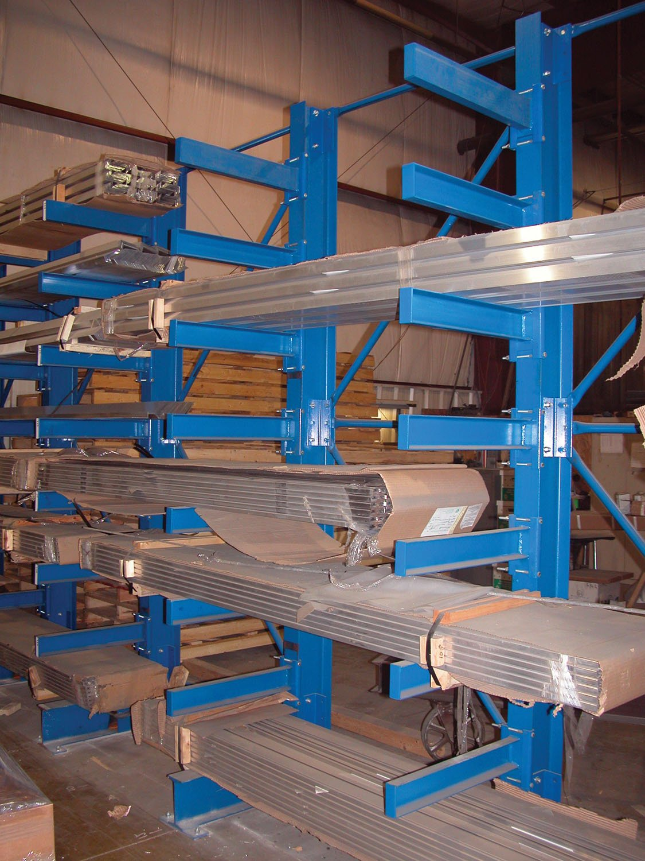 Vestil SAC-1248 Single-Sided Racking, 9500 lb. Capacity, 144'' x 56'', Blue