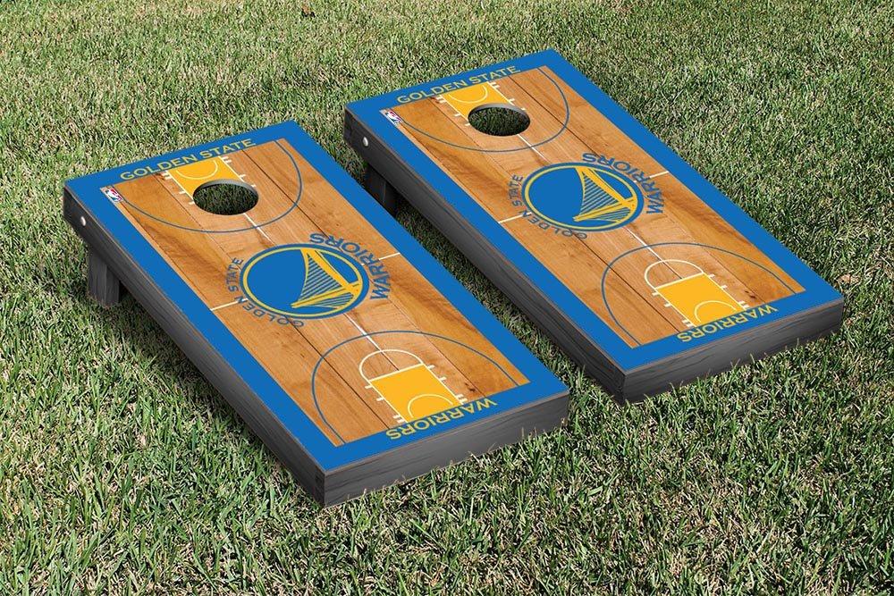 Golden State Warriors NBA Basketball Regulation Cornhole Game Set Basketball Court Version